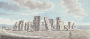 'Stonehenge on Salisbury Plain' by Joshua Gosselin, 1784. The earliest painting of Stonehenge in the Museum collection.