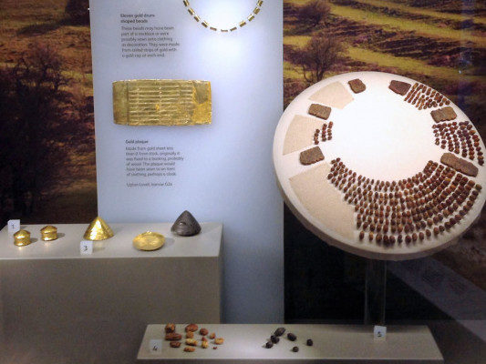 Amber necklace found near Stonehenge displayed in Wiltshire Museum