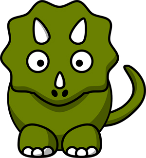 cute green cartoon dinosaur