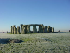 Stonehenge on a frosty morning