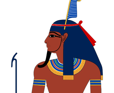 Egyptian man facing left
