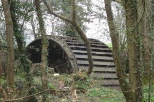 Water wheel which was part of Chapps mill at Slaughterford. Although having earlier origins from 1815 until closure in 1993 it was a papermill.