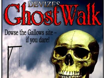 Grinning skull John Girvan's Ghost Walks in Devizes