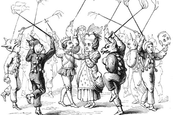 1800s drawing of Christmas Mummers Wiki