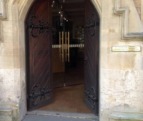 Museum doors to help illustrate opening times for bank holidays etc