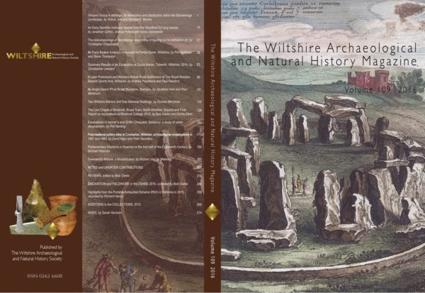 Cover of WANHM Volume 109 shwoing an early engraving of Stonehenge