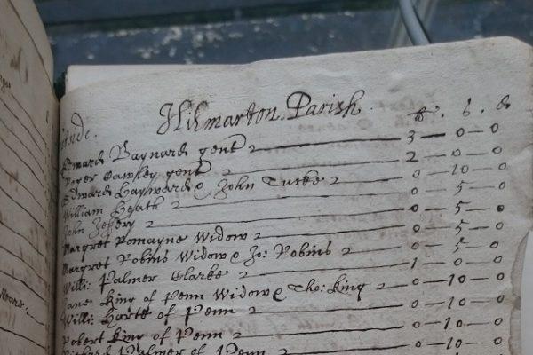 Listing in 17th century hand, headed Hilmarton Parish