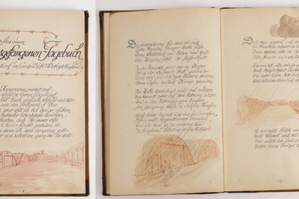 Pages from a Prisoner of War 'Diary' about life in the camp in Devizes