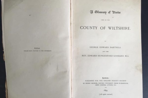 Frontispiece of Wiltshire Words by Dartnell and Goddard, 1893