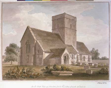 Painting of Church in Stanton St Quintin